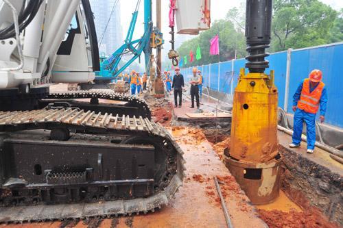 合肥旋挖钻机租赁地铁工程施工案例