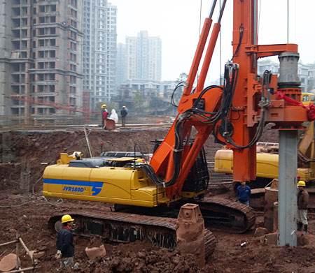 六盘水旋挖钻机租赁工民建工程施工案例