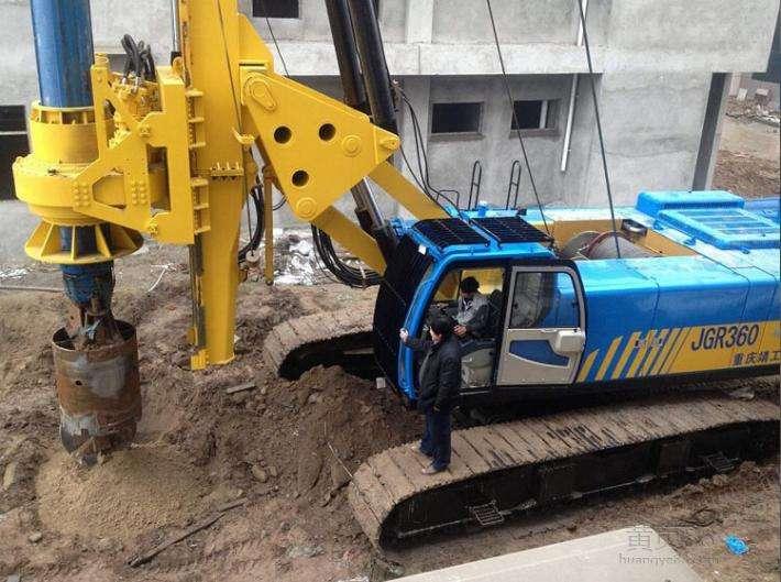 梧州旋挖钻机租赁房建工程施工案例