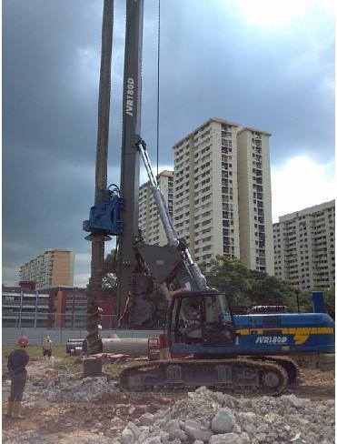 贵阳旋挖钻机租赁房建工程施工案例