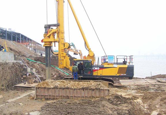 山东旋挖钻机租赁工程施工案例