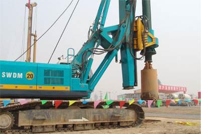 浙江温州高铁项目旋挖钻机租赁施工案例
