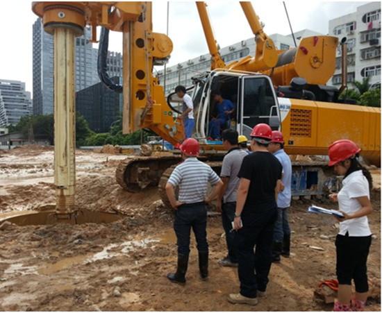 莞惠城际铁路桩基工程旋挖钻机租赁施工案例