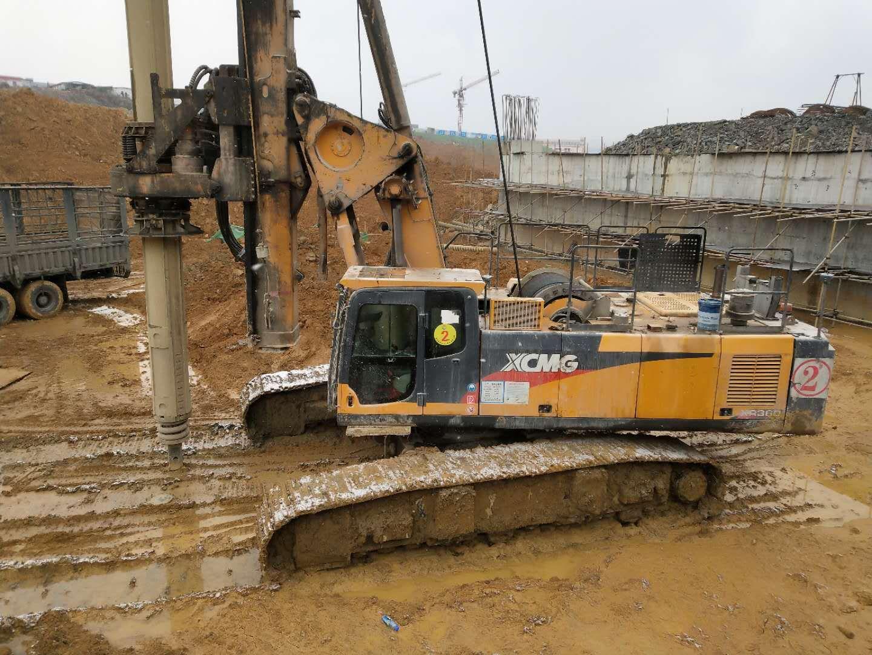 无限达360旋挖机贵州毕节工地打桥梁桩施工案例