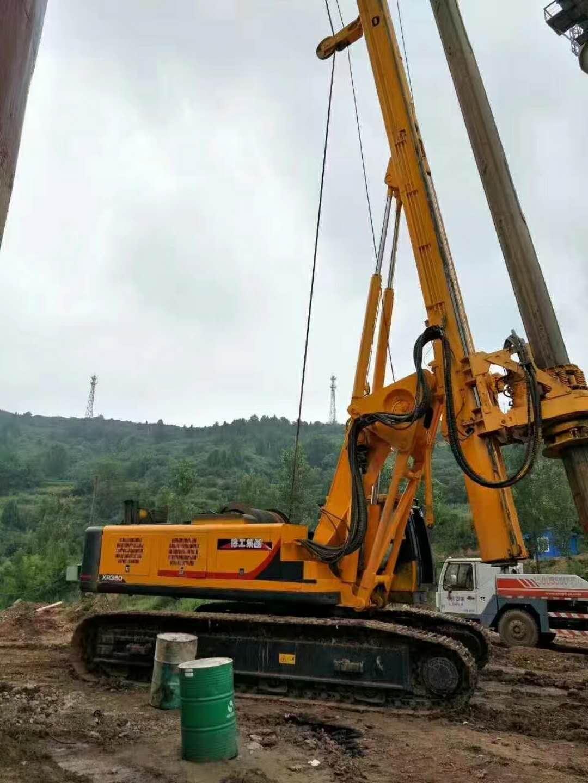 徐工280旋挖钻助力山东济南房建 租赁旋挖就上无限达