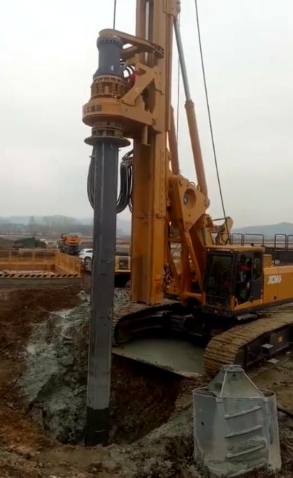 无限达高铁桩基施工经典视频,工程人必看!