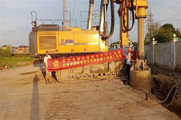 XR400E旋挖钻机杭州高架桥改建工程施工案例