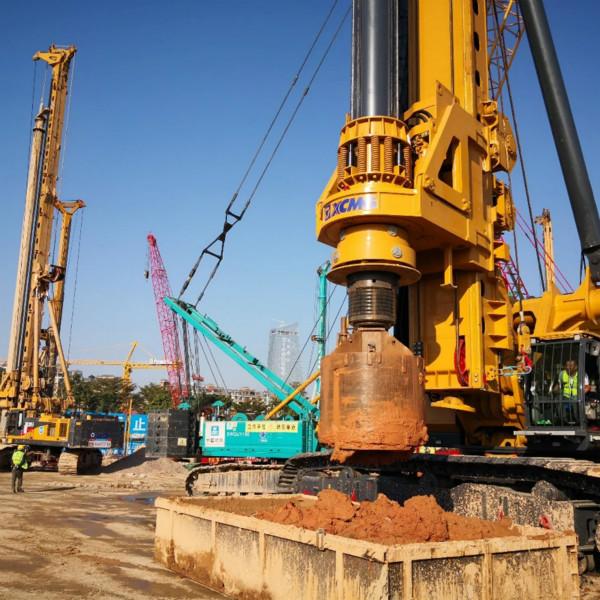 无限达400E旋挖钻杭州中环柯桥段高架桥改建工程施工现场